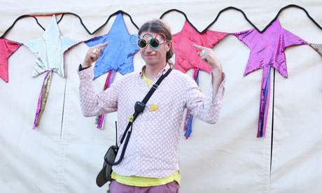Rob da Bank poses at Camp Bestival