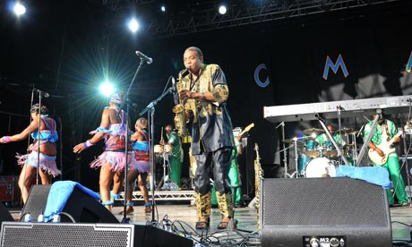 Femi Kuti performs at Womad