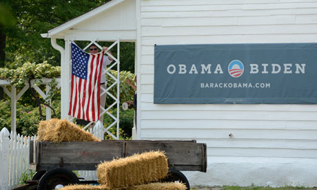 US President Barack Obama's 'Betting On America' bus tour