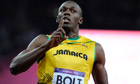 Usain Bolt wins the men's 100m