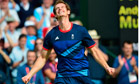 Britain's Andy Murray celebrates