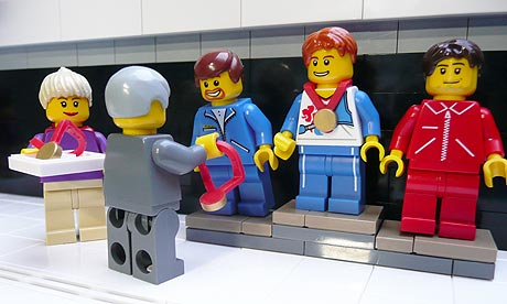 OLYMPIC ATHLETES LINE UP IN LEGO 2012
