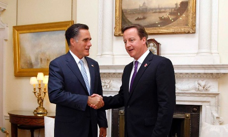 Mitt Romney and David Cameron