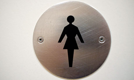Ladies women's toilet sign