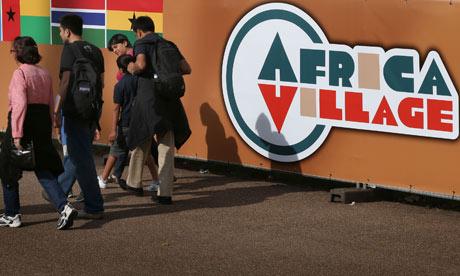 The Africa Village hospitality house in London's Kensington Gardens