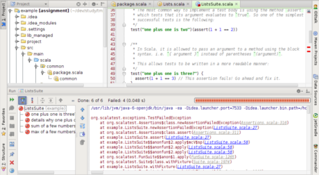 The IntelliJ IDE, properly set up for Scala