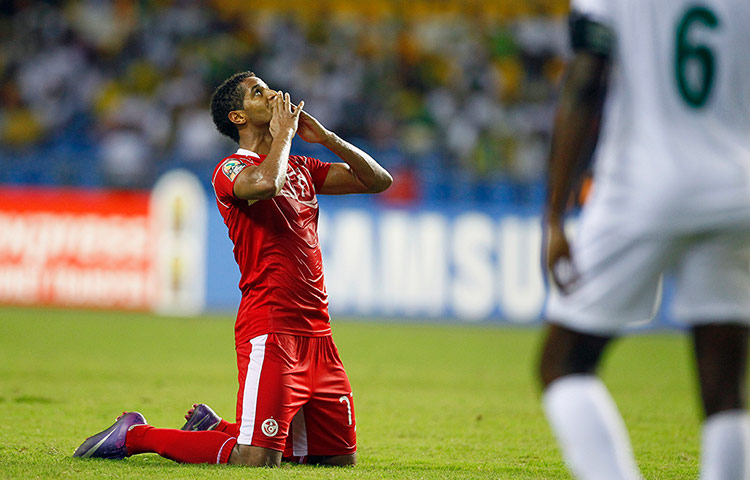 African Nations: Tunisia's Issam Jemaa reacts after defeating Niger