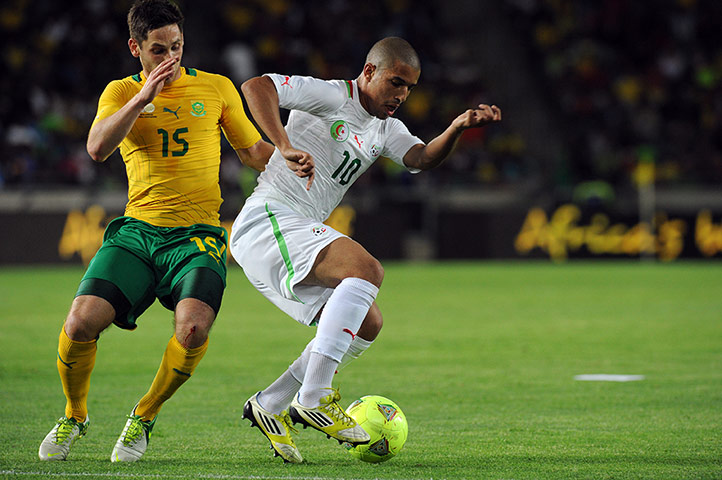 African Nations: Algeria's Sofiane Feghouli and South Africa's Dean Furman