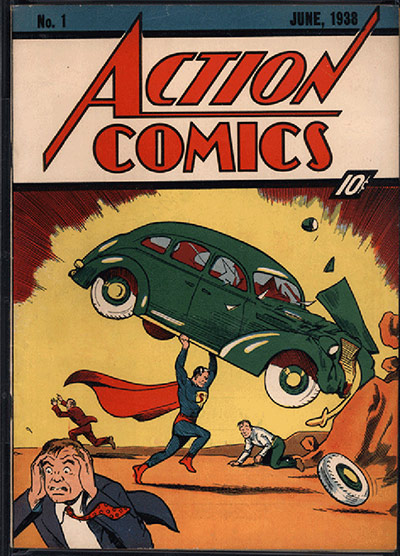Superman: June 1938 cover of Acton Comics