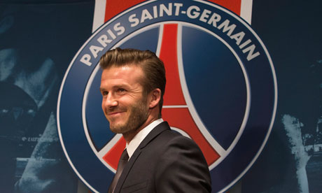 Bonjour … David Beckham introduces himself as a Paris Saint-Germain player