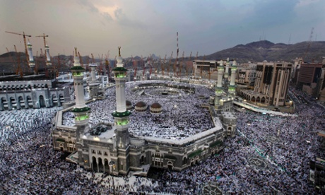 The Grand Mosque in Mecca, teeming with pilgrims for the start of Hajj this week.