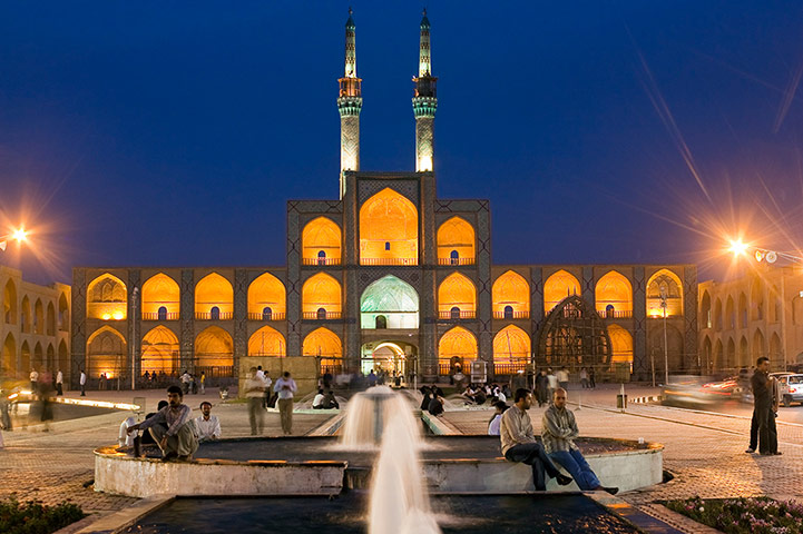 Iran Tourism Push: Amir Chakhmaq square, built in the 9th century in Yazd Province
