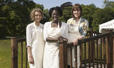 Ruby, Kimberley and Frances: The Great British Bake Off finalists for 2013.