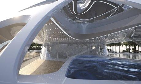 Inside Zaha Hadid's superyacht