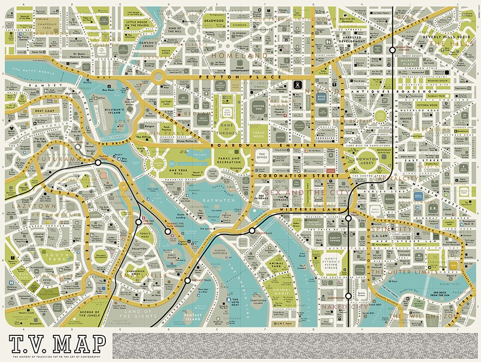 Classic TV Show Maps In Pictures Television Radio - Maps images