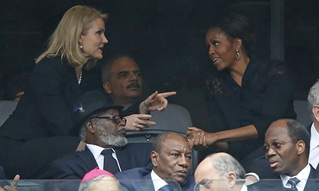 Helle Thorning-Schmidt and Michelle Obama