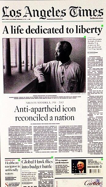 Nelson Mandela's death: the newspaper front pages - in ...