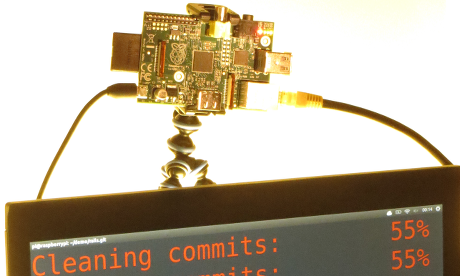 Raspberry Pi rewrites a Git project