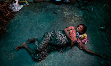 A pregnant Rohingya Muslim woman