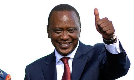 Kenya's fourth president, Uhuru Kenyatta