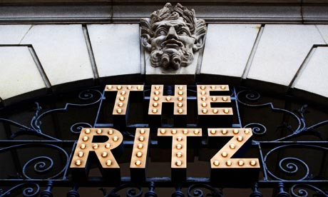 The Ritz Hotel sign
