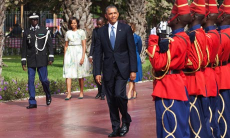 Obamas in Senegal