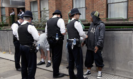 Youths being stopped and searched