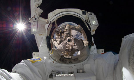 Aki Hoshide's outer space selfie.