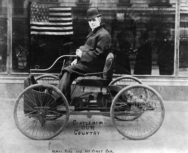 henry ford in his first car a picture from the past art and design the guardian. Black Bedroom Furniture Sets. Home Design Ideas
