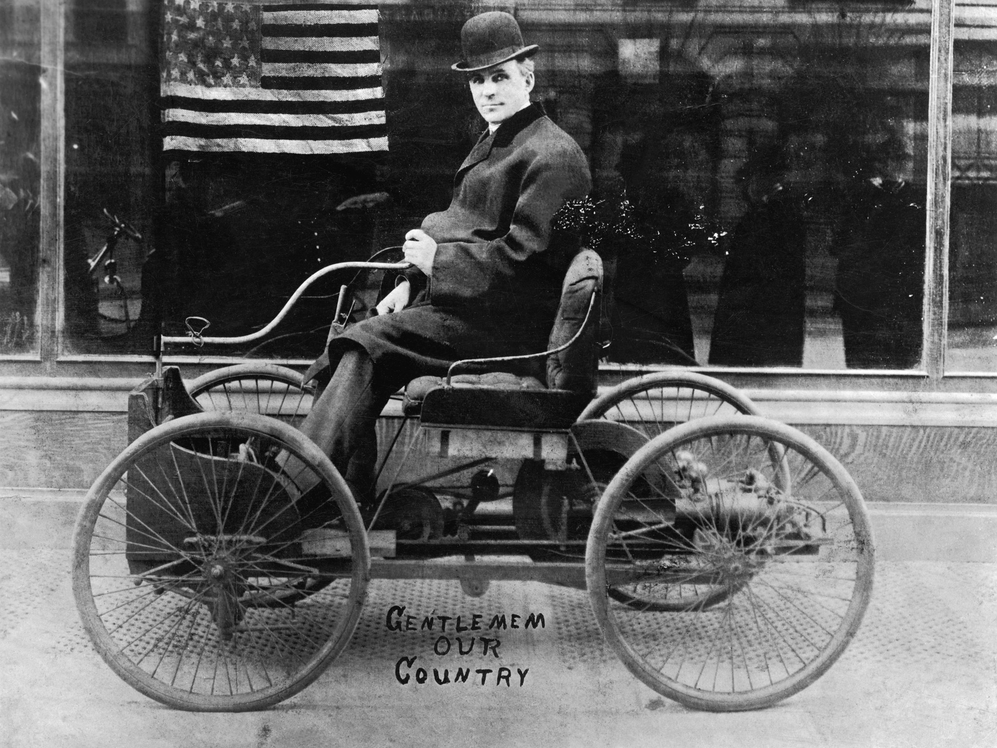 Henry Ford In His First Car