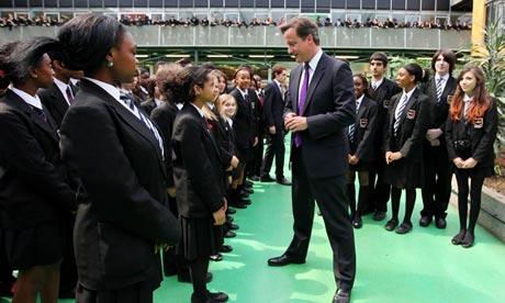 Prime Minister David Cameron Visits Kingsdale Foundation School