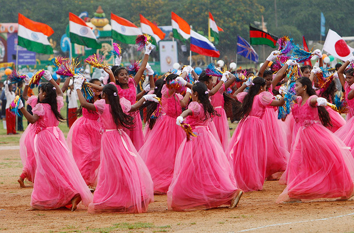 India's 67th Independence Day is celebrated around the ...