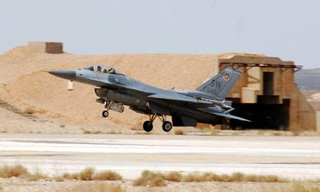 US warplane F-16 Fighting Falcon aircraft