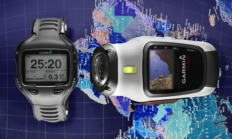 Garmin Forerunner GPS watch and Virb Elite camera