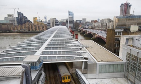 London's Blackfriars Solar-powered Rail Station