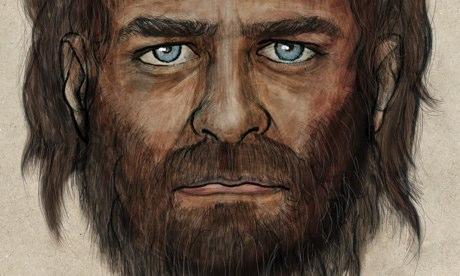 Artist's impression of a blue-eyed hunter gatherer