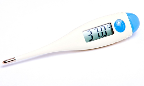 A digital thermometer