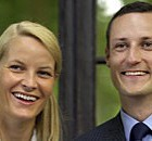 Crown Prince Haakon Magnus poses with his fiancee, Mette-Marit Tjessem-Hoiby