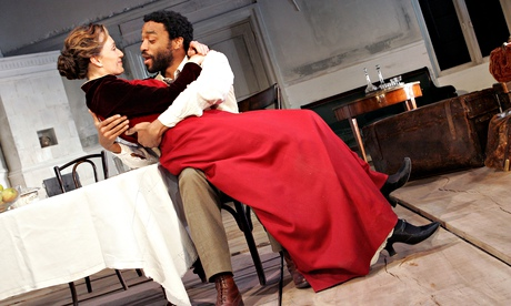 Kristin Scott Thomas and Chiwetel Ejiofor in The Seagull