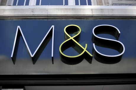 A Marks and Spencer store sign.
