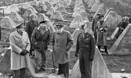 Winston Churchill, Field-Marshal Montgomery and Field-Marshal Sir Alan Brooke, 1945