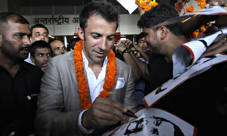Big names, such as Alessandro Del Piero, have been attracted to the glittering prospect of the India