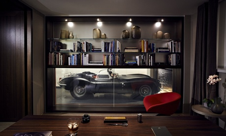 living room garage living vroom the only place to park your supercar 11218