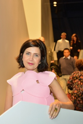 Moussavi at the opening of her new building for the Museum of Contemporary Art Cleveland, Ohio in 2012.