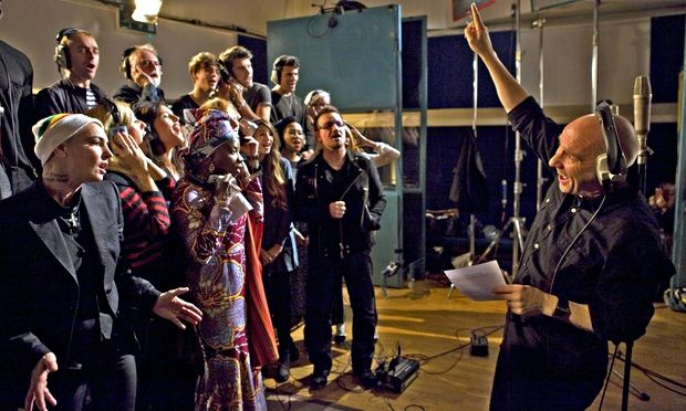 stars of 2014 recreate band aid spirit as musicians unite