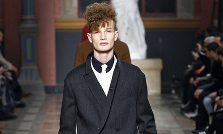 Lanvin's autumn/winter show at Paris fashion week featured the oversized overcoat.