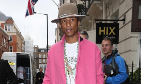 Pharrell Williams' pink coat.