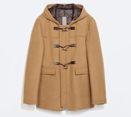 Zara's camel duffle coat.