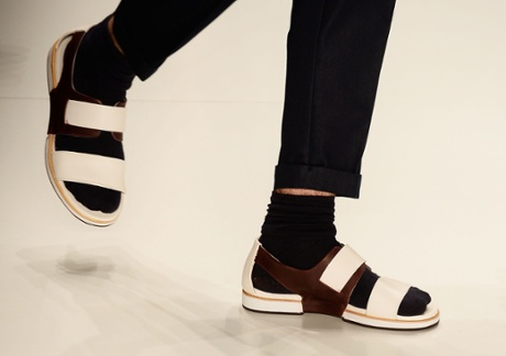 Socks and sandals at the Colcci fashion show during Sao Paulo Fashion Week Winter 2015