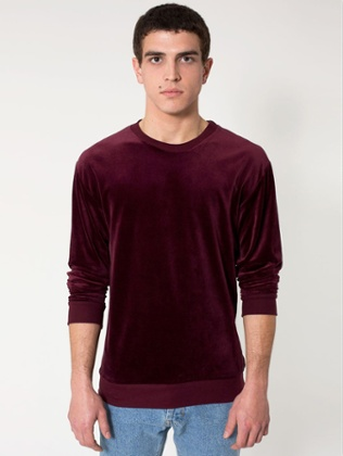 American Apparel's Velour Drop-Shoulder Sweater